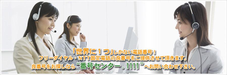 """「世界に1つ」しかない電話番号 !フリーダイヤル・NTT固定電話の良番号をご提供させて頂きます。良番号をお探しなら""""番号センター.1111""""へお問い合わせ下さい。"""